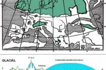 Rozsah pleistocénního zalednění  Evropy (před 2500–600 tis. lety) 2