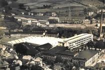 Mautnereovy textilní závody (Tepna) v r. 1941, příklad kvalitní průmyslové zástavby, foto – archiv A. Samka