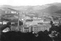 Mautnerovy textilní závody, pohled od zamku, 20.léta 20. st.?, foto - archiv A. Samka