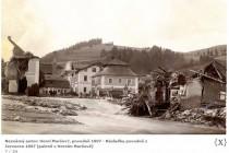 Povodeň Horní Maršov 1897, foto - www.scheufler.cz