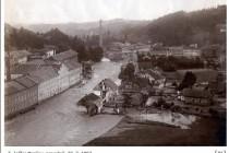 Povodeň Horní Maršov 30.7.1897, foto- www.scheufler.cz