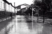 Povodeň na Plhově, ulice Tepenská 1938, foto - www.nachodsko.sweb.cz