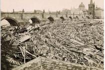 Praha, povodeň 1872, foto- www.scheufler.cz