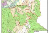 """Březinka - mapa, všiměte si vykouslého uzemí tzv. Jiráskova sadu - místo kde podle původního plánu měly vzniknou """"nové lázně"""""""
