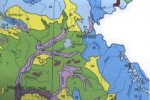 Na mapě přirozené potenciální vegetace je vidět jen lokální malé rozšíření mochnových doubrav v našem regionu. mapa - Z. Novotná