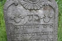 Židovský hřbitov Velká Bukovina - detail barokní stély