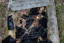 Na novějších hrobech už převažuje němčina a to je asi i důvod, proč mnohé z nich byly zničeny vandaly.