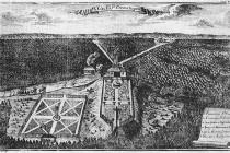 Areál Betléma v r. 1720. Šlo o jednu z nejrozsáhlejších a nejpropracovanějších ukázek komponované barokní krajiny vůbec. obr. http://commons.wikimedia.org