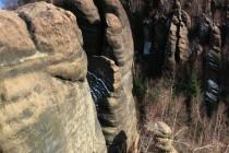 Zdejší skalní věže jsou v rámci Broumovských stěn ty nejvyšší