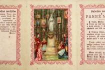 Jeden z mnoha různých svatých obrázků s Pannou Marií Suchodolskou, kterých se prodalo obrovské množství