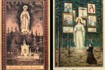 Svaté obrázky - Panna Maria Suchodolská v dvojím různém provedení. Ke každé kapličce jedna...