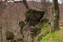 Nejskalnatější jsou Kozí hřbety, přes které vede krásná cesta.