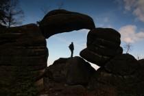 A je tu i Skalní brána - jeden z nejhezčích skalních útvarů na Broumovsku