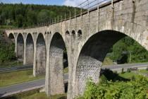 Levinský viadukt - jeden z nejhezčích železničních mostů vůbec. Inspirace klasickou architekturou římských akvaduktů je nasnadě...