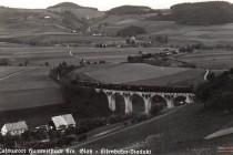 Viadukt na historické pohlednici