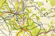 Hitlerova železnice na turistické mapě z r. 1947