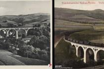 """Levínský viadukt na kdysi proslulé """"Lázeňské železnici"""""""