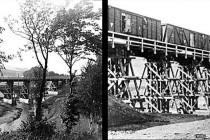 První vlak projel po mostě přes Metuji na nové železnici, která spojila Náchod a Kudowu 20. dobna 1945 v den Hitlerových narozenin.