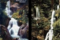Vodopády Posny před sto lety na vrcholu své slávy před sto lety. Historické pohlednice - fotopolska.eu
