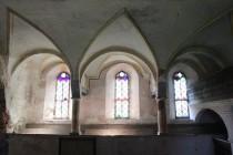 Empora v interiéru kostela v Maršově