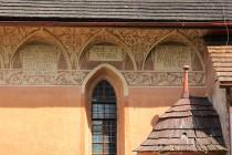 Kostel sv. Jakuba v Dolní Olešnici - lunety na jižní stěně