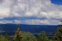 Výhled z Můstku na sever do Polska - panorama Stolových hor
