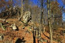 Vrchol Rogowniku na kterém stával hrad