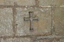 Lanžov - kostel svatého Bartoloměje, rytina kříže