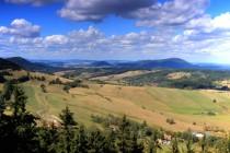 Výhledna severozápad směrem k Vraním horám