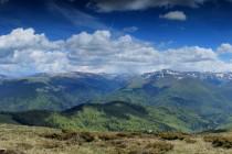 Pohoří Tarcu z Muntele Mic