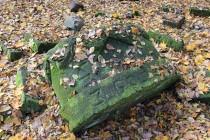 Zbytky z pomníku hrobu synù Hanse Heinricha IV Hochberga