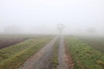 Končiny - cesta u Burdychova statku, na které se Potůček prostřílel z obležení