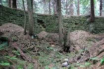 Z pevnosti se zachoval obranný příkop a val, jehož vnitřní stěna byla zpevněna pískovcovými kvádry.