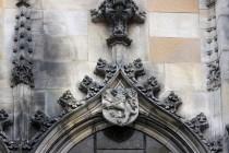 Gotický lev z kostela Nanebevzetí Panny Marie