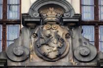 Český lev z průčelí radnice