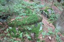Opuštěná kamenická dílna v polském Batorówě - brusné a mlýnské kameny