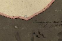 Hradiště - indikační skica stabilního katastru s úsekem historické hranice