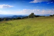 Na Skřivánčí hoře - výhled ke Kladsku