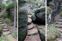 Supí skály - hranice a kameny
