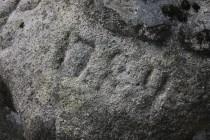 Supí skály - hraniční kámen