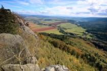 a výhledy podzimní...