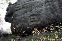 Broumovské stěny - Koruna hraniční značka IMG_7448