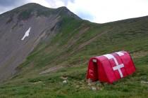 Nouzová skrýš pod vrcholem Scărișoara