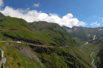 Transfăgărășan na jižní straně hor